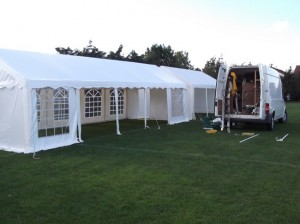 Erecting 6 Marquees