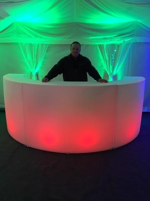 semi circle light up bar
