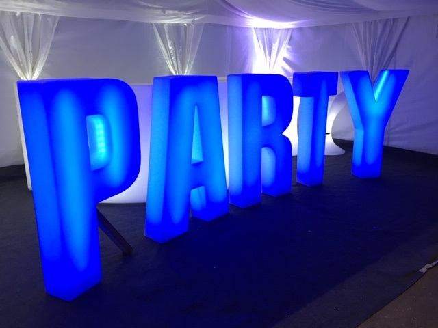 light up party sign
