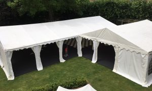 L Shaped marquee