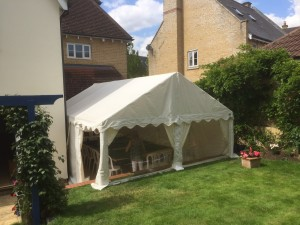 Marquee attached to house in Brentwood