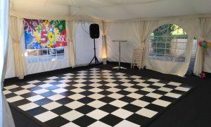 50th birthday party dance floor